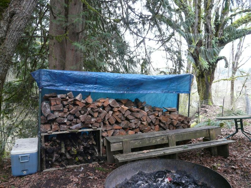 New woodpile