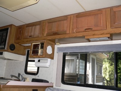 built in coffee maker and lots of storage